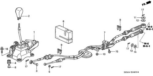 Purchase 02-04 Acura RSX type S k20a2 oem shift shifter
