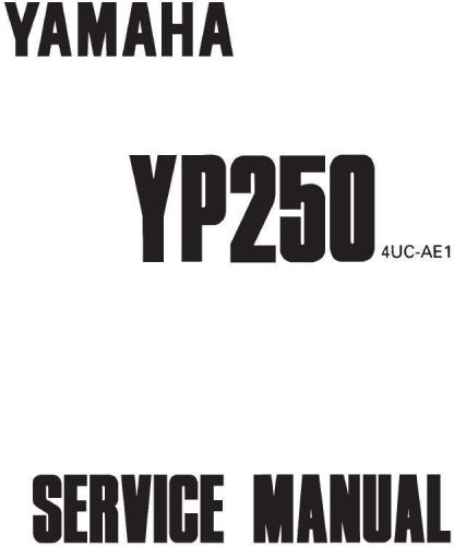 Buy New Yamaha YP250 YP 250 Repair Service Manual 1996. PRINT 4UC-AE1 FREE SHIPPING motorcycle