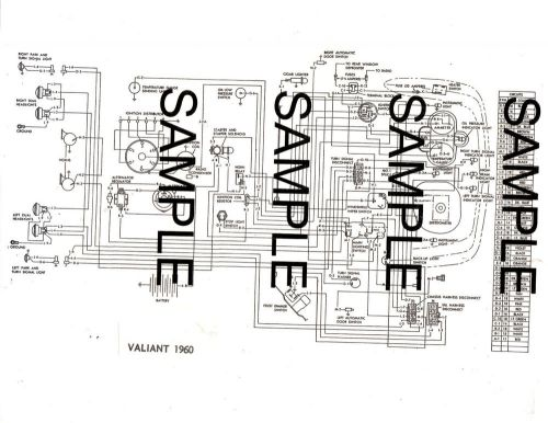 Find 1960 PLYMOUTH VALIANT 60 CHRYSLER CORPORATION WIRING