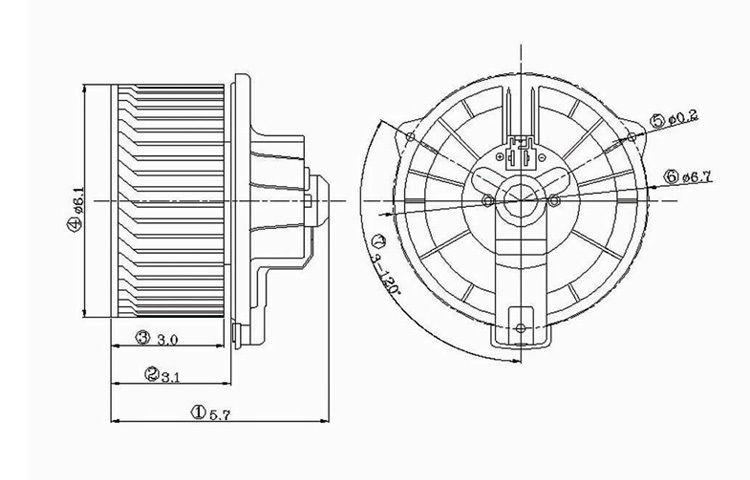 Buy Replacement Blower Motor Assembly 00-06 01 02 03 04 05