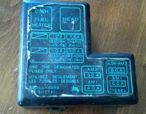 Toyota Truck Fuse Block Diagram