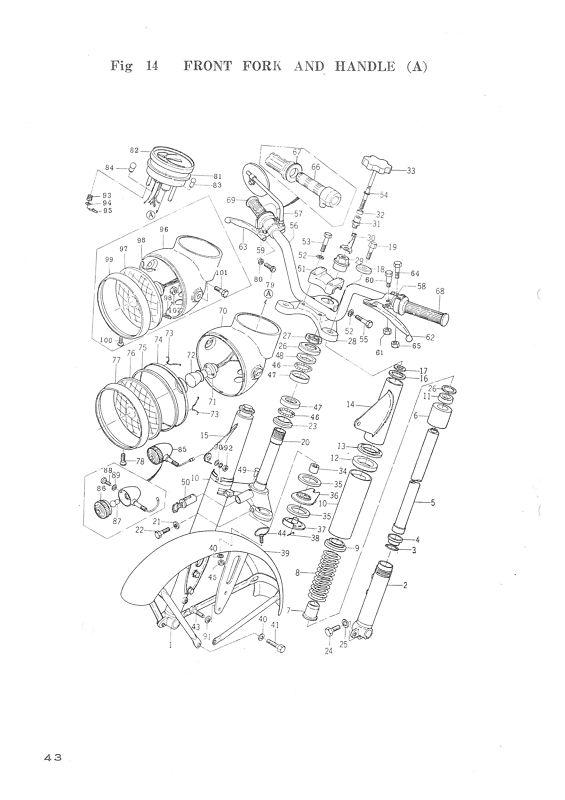 Buy YAMAHA Parts Manual YDS3 & YM1 1964 1965 1966