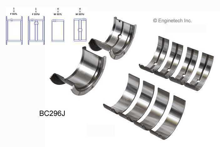 Purchase Main Bearing Set sbc Chevy GMC V8 305 350 68-02