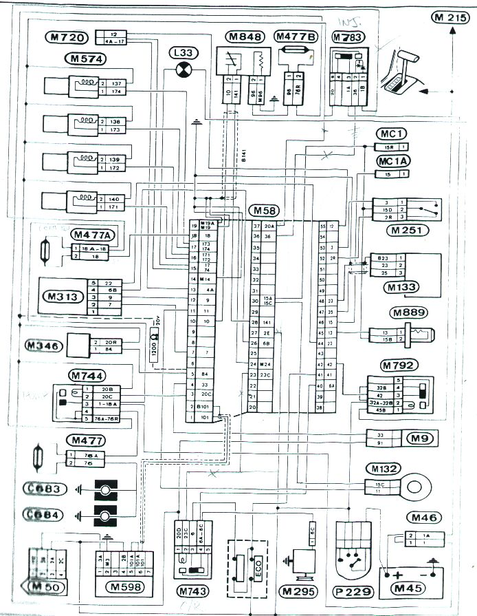peugeot 505 gti wiring diagram