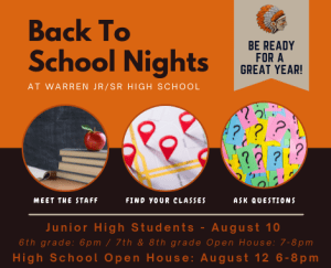 Read more about the article Jr./Sr. High School Back to School Nights