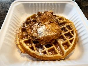 Wondering where the best chicken and waffles are? Featured in my quarantine takeout round up of course