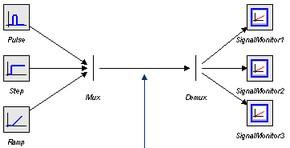 20-sim webhelp > Library > Signal > Block Diagram > Demux