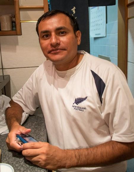 Javier! Our sushi breakfast buddy!