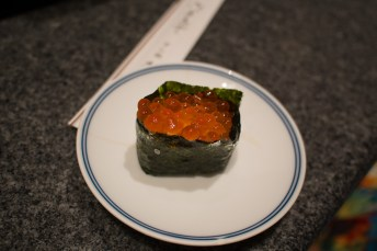 Delicious and artful salmon roe.