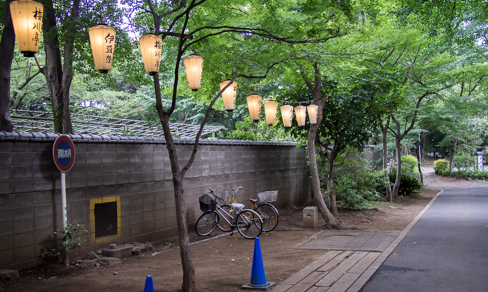 A side street behind Ueno Park.