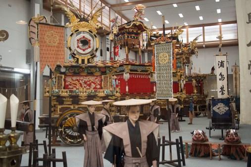 Inside Takayama's Float Museum