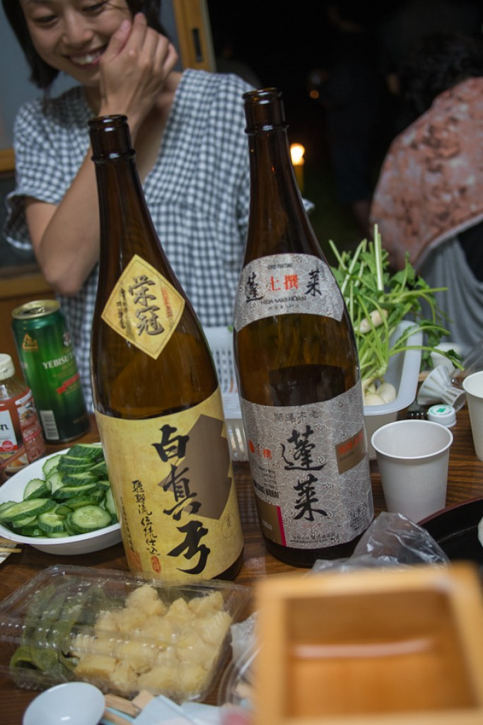 Some of the sake sent to a better home during the BBQ