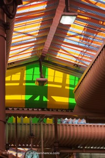 The colorful roof that kept the sun off our heads
