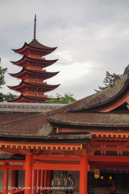 The temple and pagoda