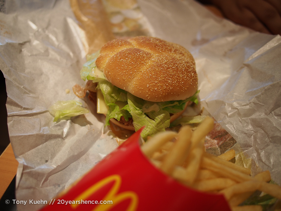 The McChicken and fries