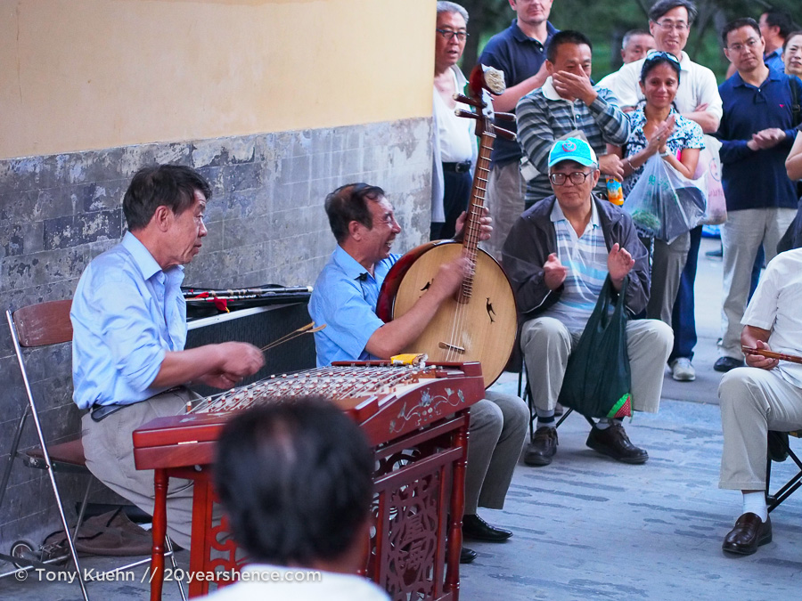 A group of street musicians