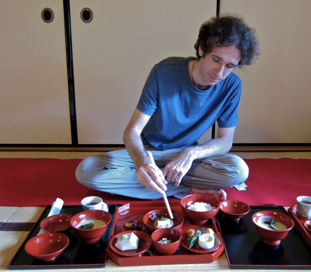 Simon at Tenryuji, a Japanese temple restaurant in Kyoto, Japan