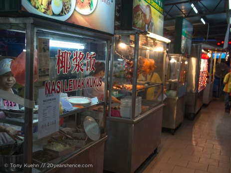 Hawker stalls as far as the eye could see