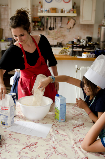 During the summer, Emily teaches French cooking classes to youngsters
