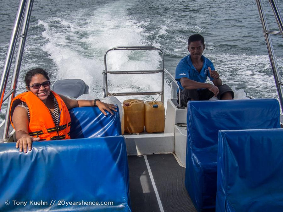 Jet boat ride to Seaventures