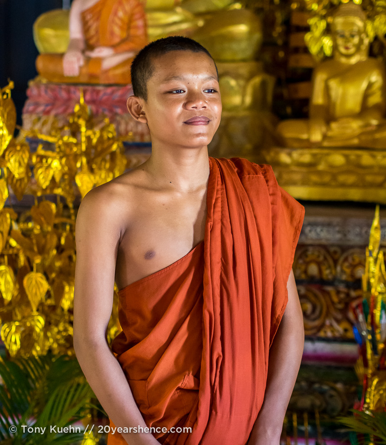 Young monk in Cambodia