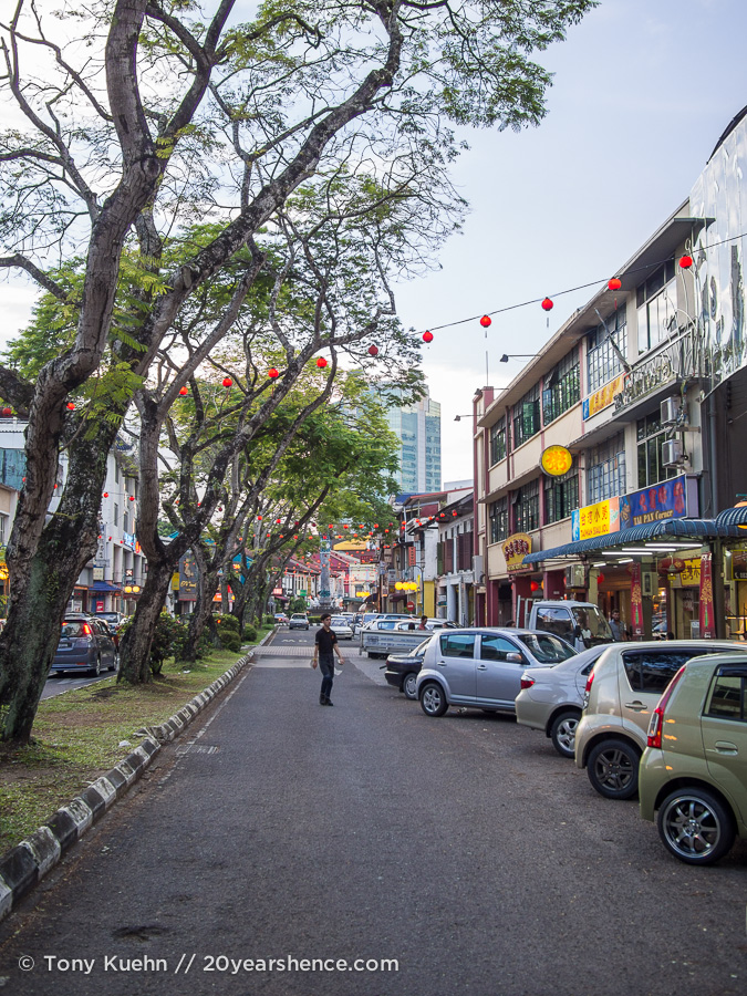 A street in Kuching, Malaysia