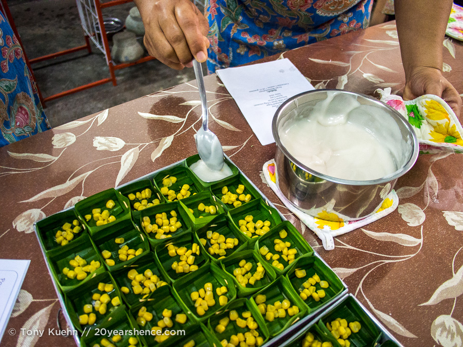 Preparing a dessert in Kuching, Borneo