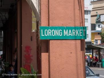 A market in Kuching, Malaysia