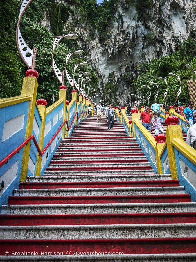 Steep Stairs at the Batu Caves