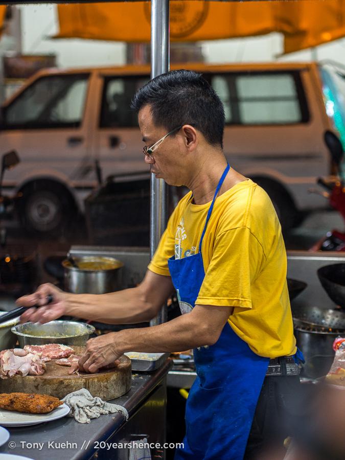A man prepares food, Penang