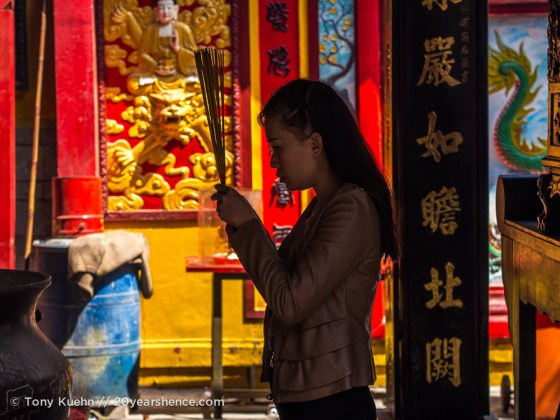 Prayer at a temple, Ho Chi Minh City