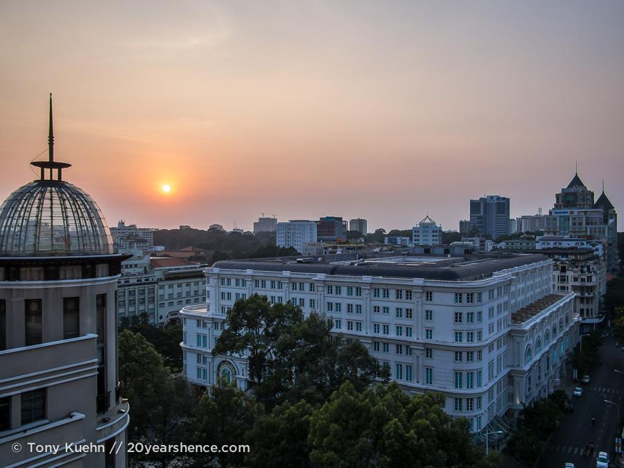 Ho Chi Minh City at sunset