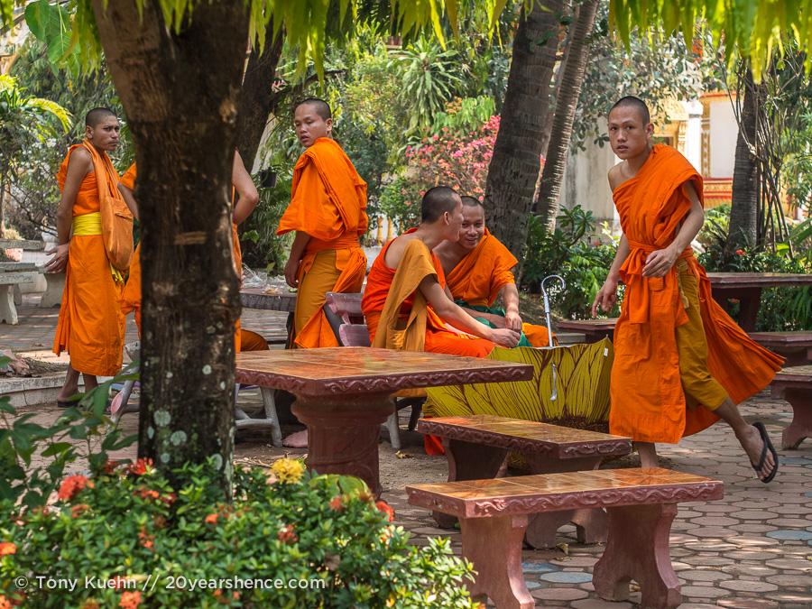 Monks in Savannakhet