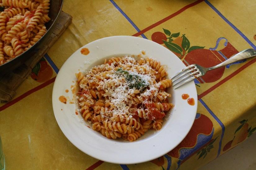 homemade pasta in cerveteri - italy