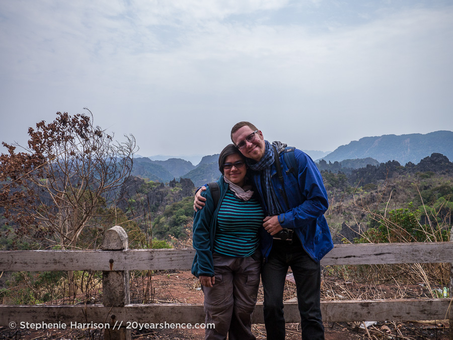 Viewpoint on the way back to Thakhek
