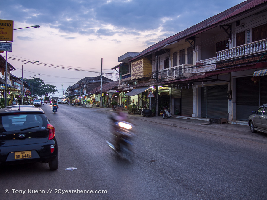 Thakhek at dusk