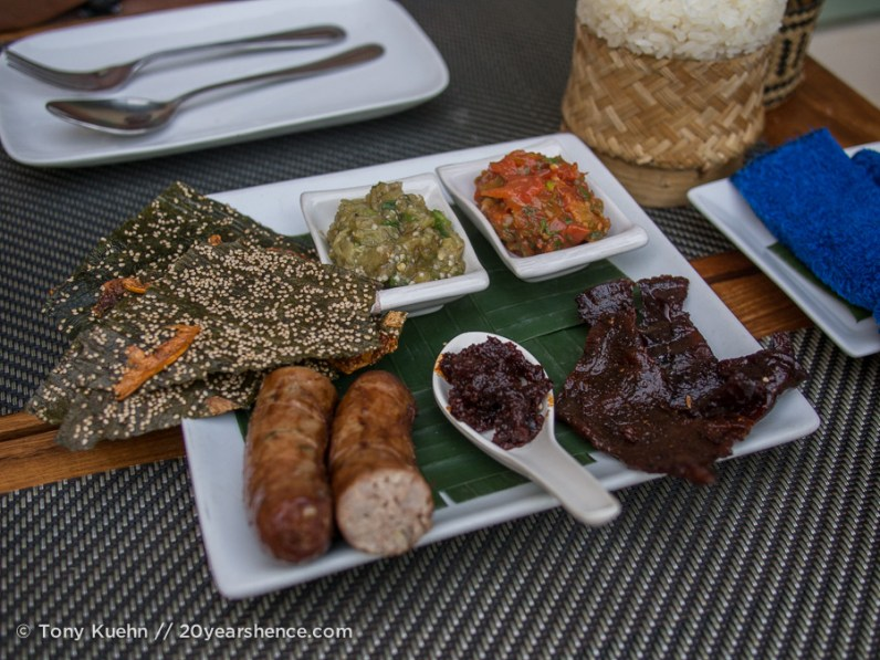 A platter of Lao specialities