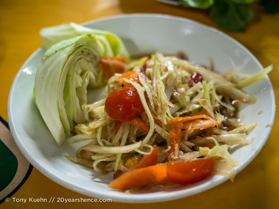 Papaya salad, Laos