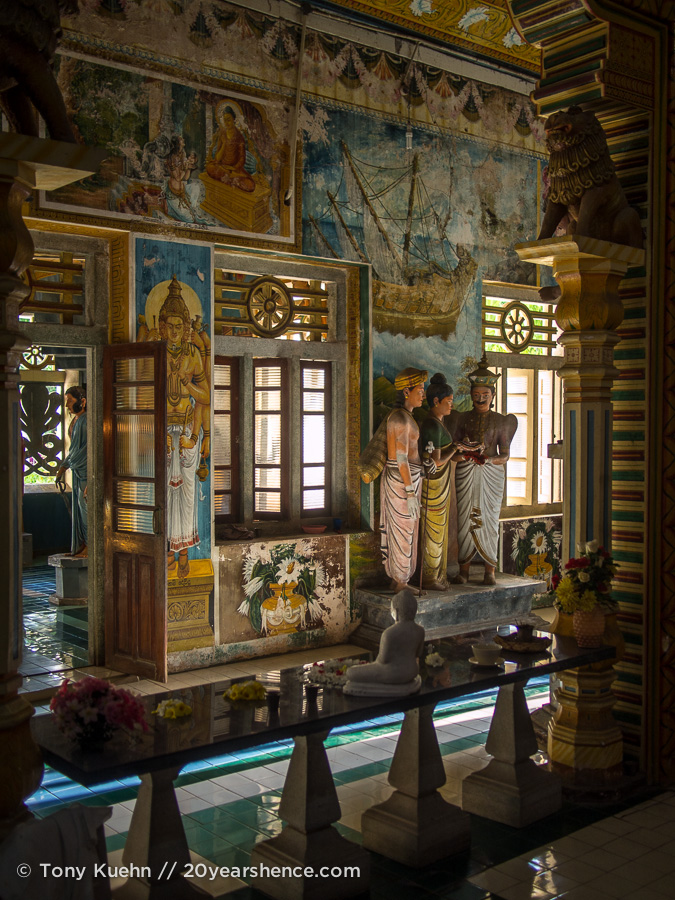 Beautiful Sri Lankan temple