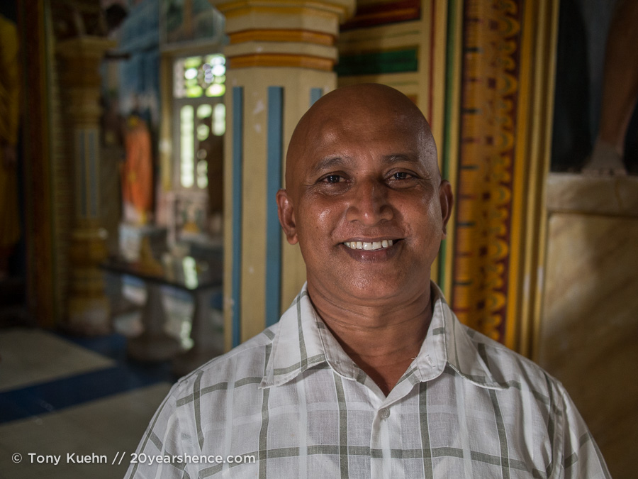 The monk who was distinctly concerned with material possessions