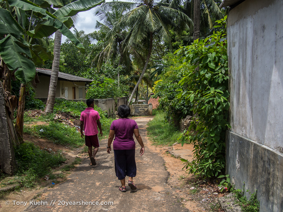 Going for a walk in Ambalangoda