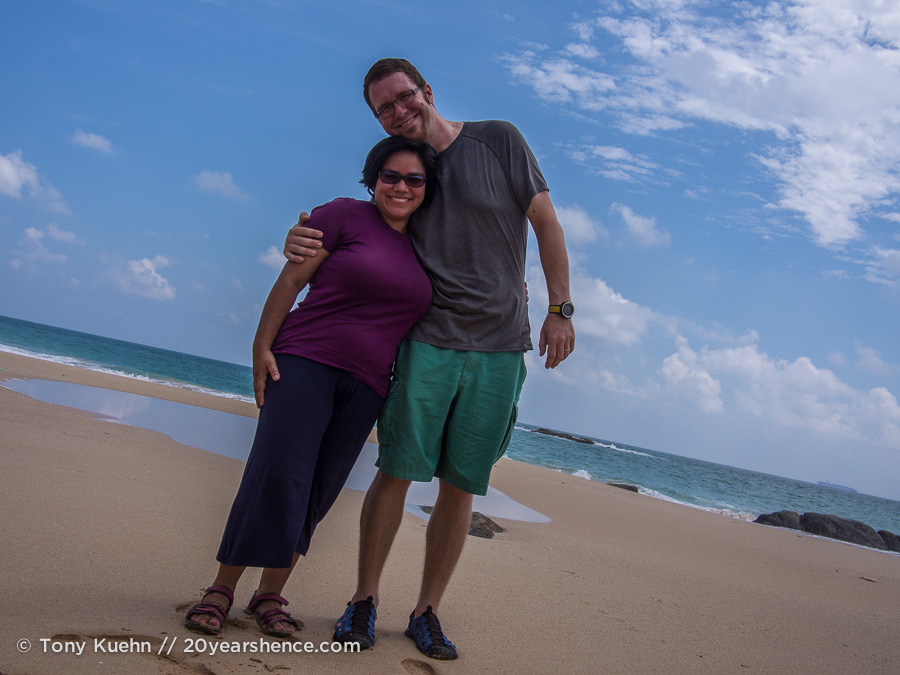 On the beach in Ambalangoda