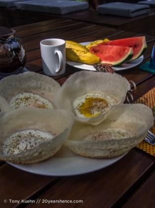Sri Lankan Egg hoppers