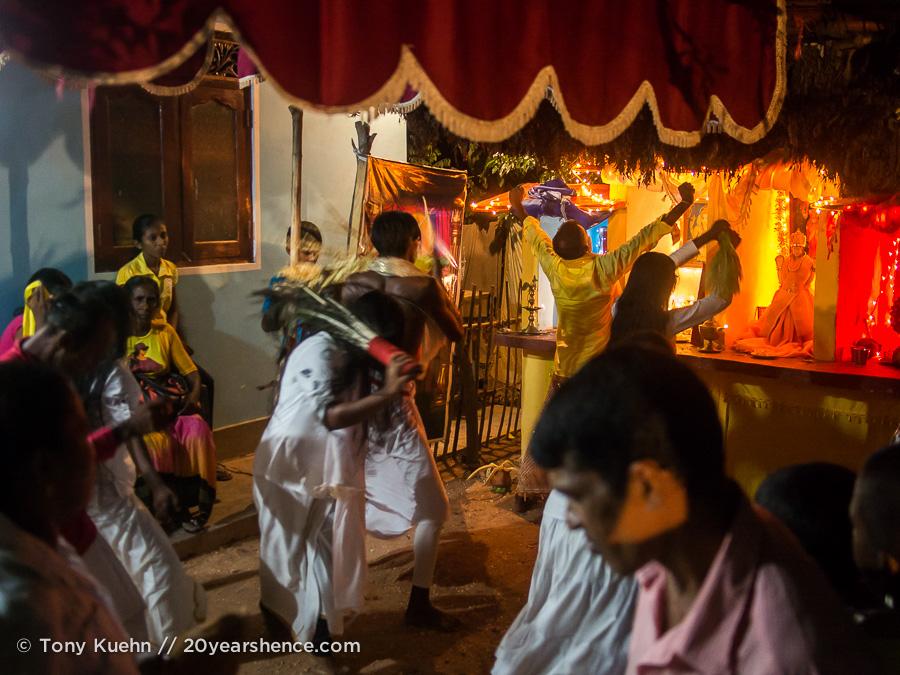 At a Sri Lankan Devil Dance