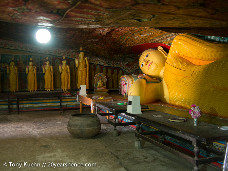 Mulkirigala Painted Cave Temple Reclining Buddha