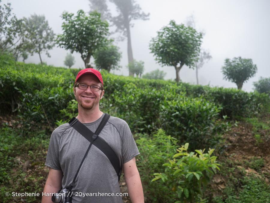 Tony hiking in the foothils of Ella, Sri Lanka