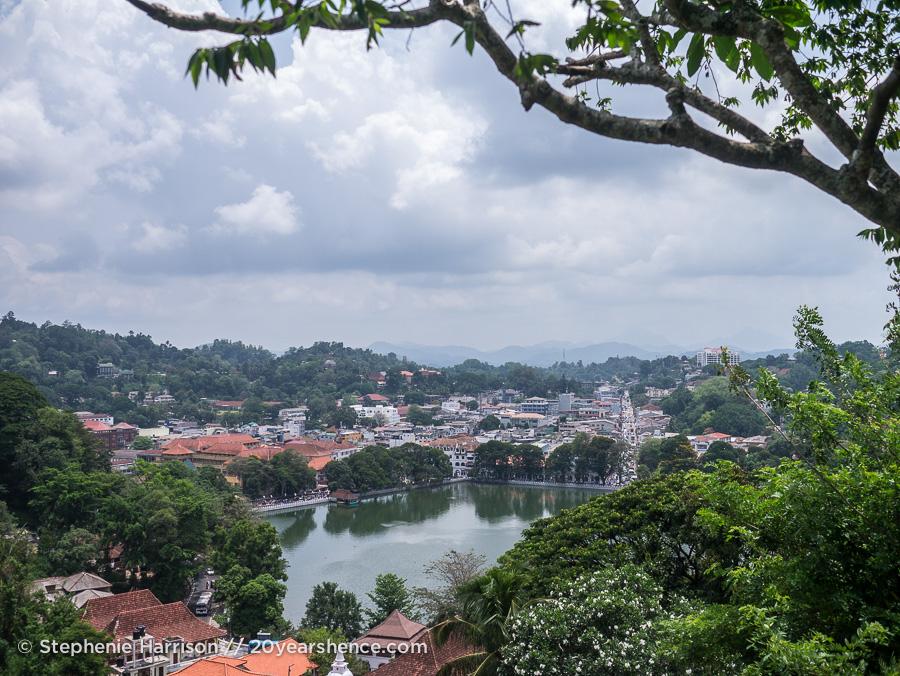 Kandy, Sri Lanka from above
