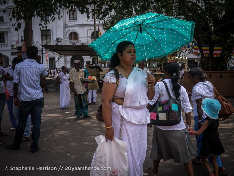 Walking the streets of Kandy, Sri Lanka