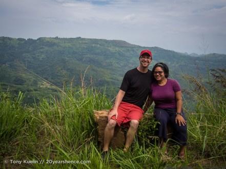 Steph and Tony, near Baticaloa, Sri Lanka