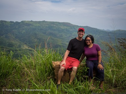 Steph and Tony, near Baticaloa, Sri Lanka